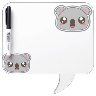 Kawaii, fun and funny koala dry erase board