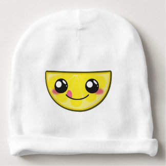 Kawaii, fun and funny lemon baby beanie