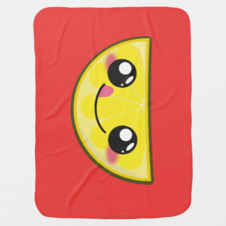 Kawaii, fun and funny lemon baby blanket