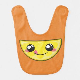 Kawaii, fun and funny lemon babybib bib