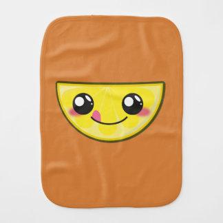 Kawaii, fun and funny lemon burp cloth