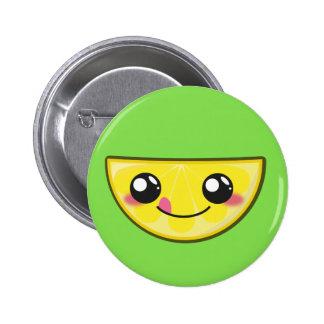 Kawaii, fun and funny lemon button