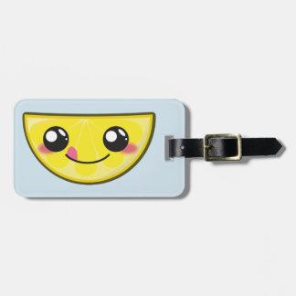 Kawaii, fun and funny lemon luggage tag