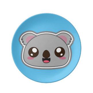 Kawaii fun, funny and cool koala plate