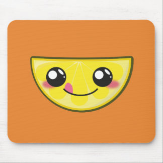 Kawaii, fun, funny and cool lemon mouse pad