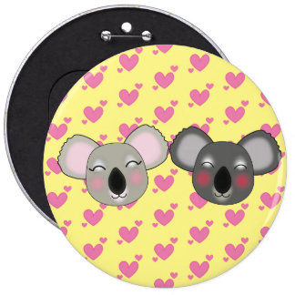 Kawaii fun koalas button