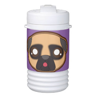 Kawaii funnny pug beverage cooler