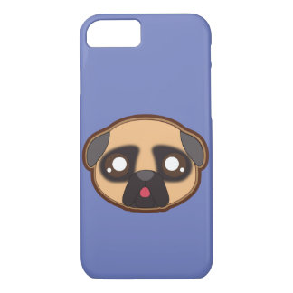 Kawaii funny and cool pug iphone case