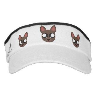 Kawaii, funny and spooky chihuahua head visor