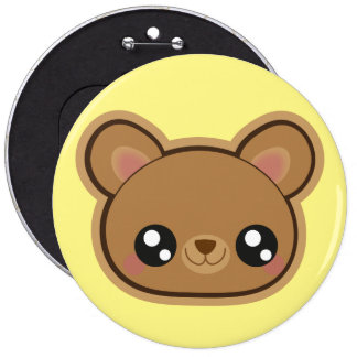 Kawaii funny bear button