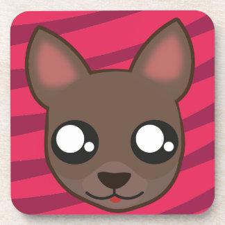 Kawaii funny chihuahua coaster