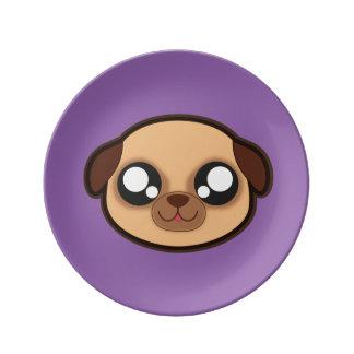 Kawaii funny dog plate porcelain plate