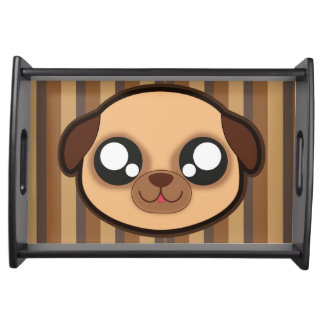 Kawaii funny dog serving tray