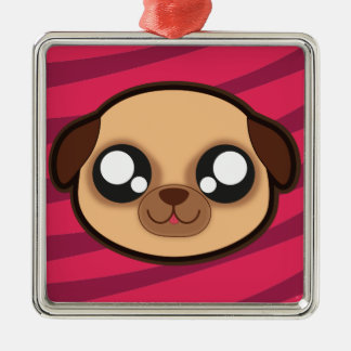 Kawaii funny dog square ornament