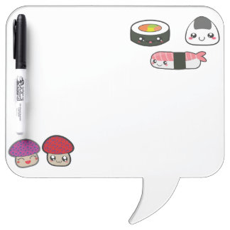 Kawaii funny food dry erase board