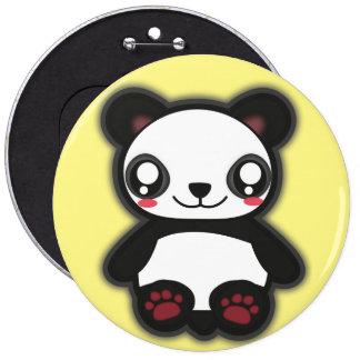 Kawaii funny panda button
