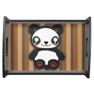 Kawaii funny panda serving tray