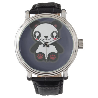 Kawaii funny panda watch