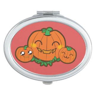 Kawaii funny pumpkin compact mirror