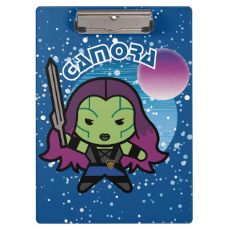 Kawaii Gamora In Space Clipboard