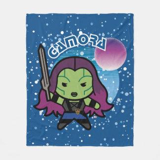 Kawaii Gamora In Space Fleece Blanket