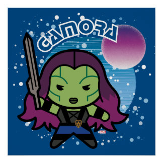 Kawaii Gamora In Space Poster