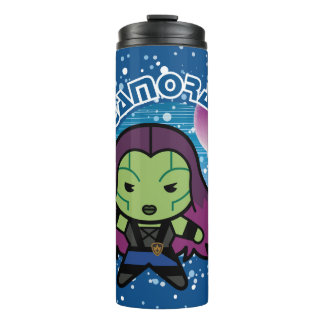 Kawaii Gamora In Space Thermal Tumbler