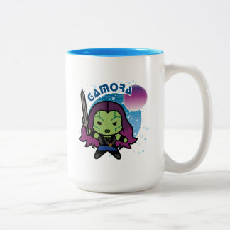 Kawaii Gamora In Space Two-Tone Coffee Mug