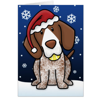 Kawaii German Shorthair Pointer Christmas Card