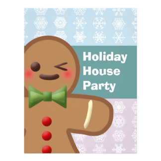 Kawaii Gingerbread Man & Snowflakes Flyer
