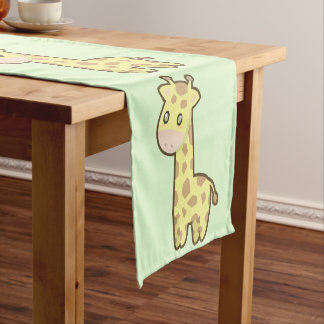 Kawaii Giraffe Short Table Runner