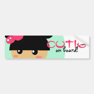 kawaii girl car bumber sticker bumper sticker