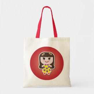 Kawaii Girl Cute Girl Budget Tote Bag