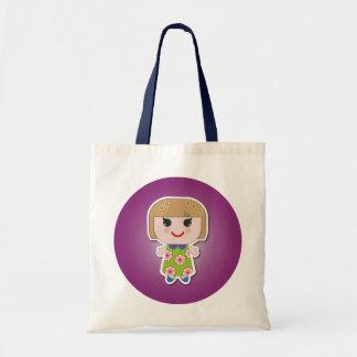 Kawaii Girl Cute Girl Tote Bags