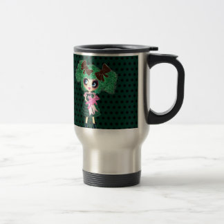 Kawaii Girl PinkyP Emerald Lolita Stainless Steel Travel Mug