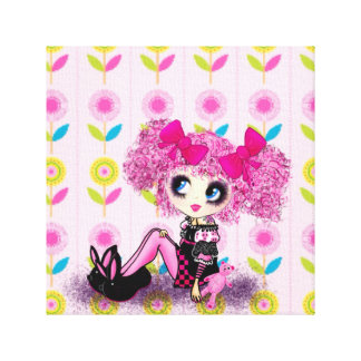 Kawaii Girl PinkyP sweet 16 personalized Canvas Print