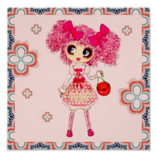 Kawaii Girl PinkyP Sweet Lolita so cute Poster