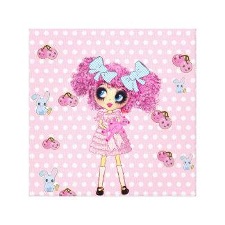 Kawaii Girl PinkyP Sweet Lolita Sweet 16 Gifts Canvas Print