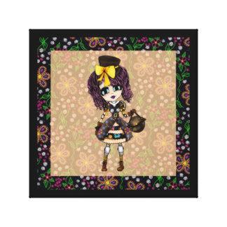 Kawaii Girl Steampunk gothic lolita Canvas Print