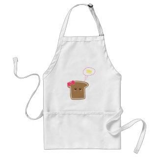 Kawaii Girly Toast n' Butter Standard Apron
