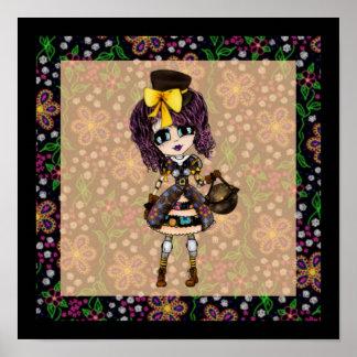 Kawaii goth lolita Steampunk Poster