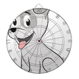Kawaii grey puppy dartboard