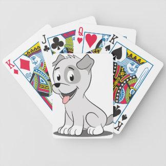Kawaii grey puppy poker deck