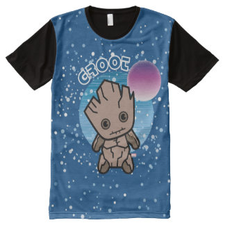 Kawaii Groot In Space All-Over Print T-Shirt