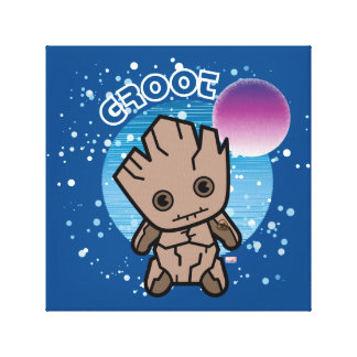 Kawaii Groot In Space Canvas Print