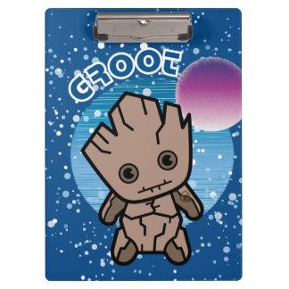 Kawaii Groot In Space Clipboard