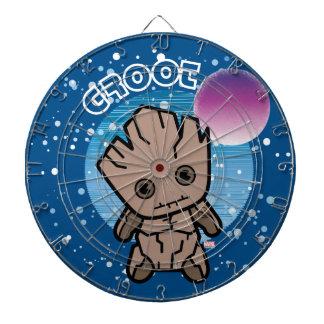 Kawaii Groot In Space Dartboard