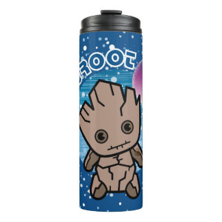 Kawaii Groot In Space Thermal Tumbler