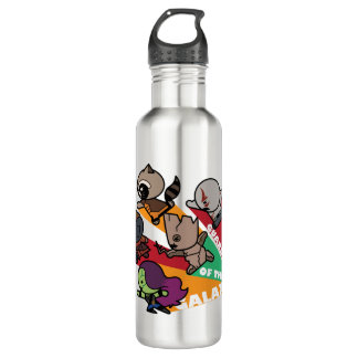 Kawaii Guardians of the Galaxy Group Jump 710 Ml Water Bottle