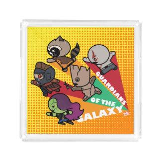 Kawaii Guardians of the Galaxy Group Jump Acrylic Tray